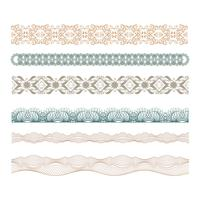guilloche decorative borders set
