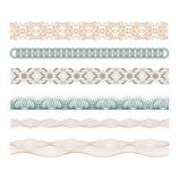 conjunto de bordes decorativos de labrada