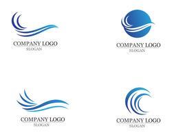 Olas playa logo y símbolos plantilla iconos vector de aplicación