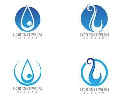Agua gota naturaleza logotipo y símbolos plantilla de aplicación de iconos .. vector