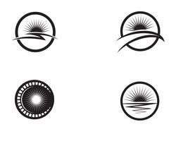 Sun logo y símbolos estrella icono web