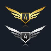 letra um logotipo emblema