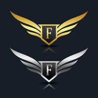 Logo emblème de la lettre F