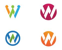 W letters business logo and symbols template icon app