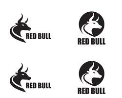 Icônes de modèle logo et symboles corne de taureau