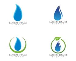 Water drop nature logo and symbols template icons app.. vector