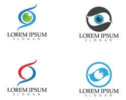 Ögonvårdslogotyp och symbolmall vektorikoner app