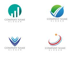 Business finance logo and symbols vector concept illustration