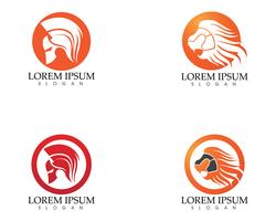 Gladiator masker warior logo en symbolen sjabloon