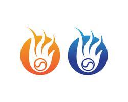 Fuoco logo logo caldo e icone del modello simboli