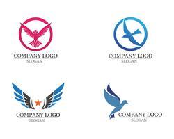 Flügel Vogel Zeichen abstrakte Vorlage Symbole