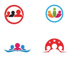 Adoptie en community care Logo sjabloon vector pictogram