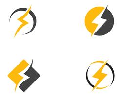 logotipo de ícone de relâmpago e símbolos