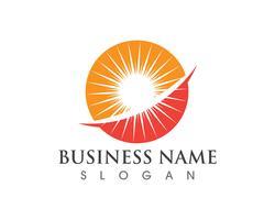 Sun Logo und Symbole Sterne Symbol Web Vektor -