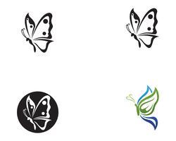 Schmetterling konzeptionelle einfache, bunte Symbol. Logo. Vektor-illustration