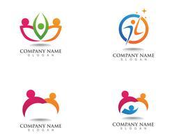 Adozione e cura della comunità Icona di vettore del modello di logo