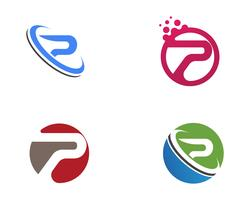 P Logo Brief Business Corporate Design Vektor.
