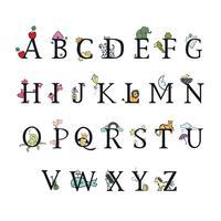 Alfabeto de crianças. Ilustração vetorial