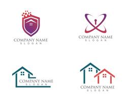 Simple House Home Real Estate Logo Icons