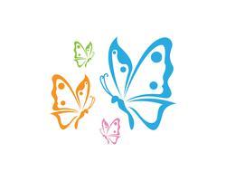 Papillon conceptuel simple, icône colorée. Logo. Illustration vectorielle