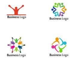 Modello di comunità logo cura e simboli