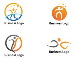 Icone di modello di salute Logo Template vettoriale app