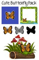 A cute butterfly pack