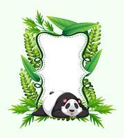 Frame template with cute panda