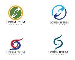Ayuda de mano y aplicación de iconos de plantilla de símbolos ..