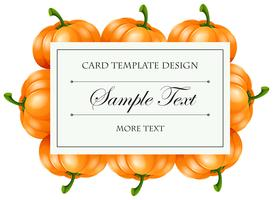 Card template with pumpkin frame
