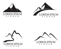 Mountain nature landscape  logo and symbols  icons template vector