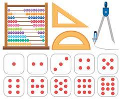 Set van wiskunde-apparatuur
