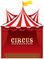 A cute circus on white background