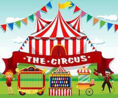 Een leuke circusachtergrond
