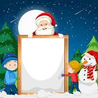 Una plantilla de nota de navidad