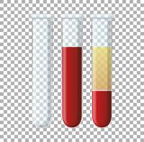 Set of glass viles with blood vector
