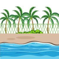 Eine Strandnaturszene