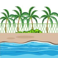 En strand natur scen