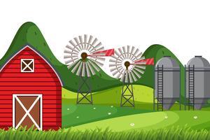 Un paesaggio di natura agricola