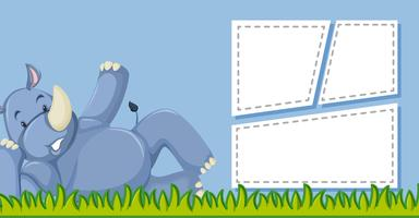 Rhino with template frame