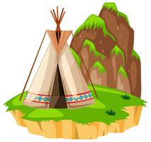 Teepee on the island