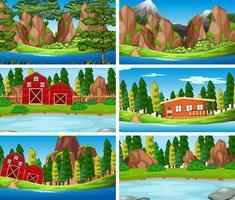 Impostare un paesaggio naturale