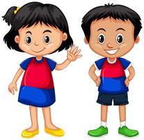 Kambodschanisches Jungen- und Mädchenlächeln