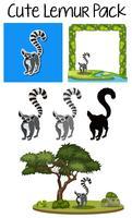 Eine süße Lemur-Packung