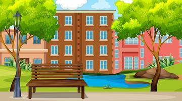 En urban parkscene