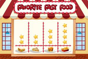 Chart of favorite food