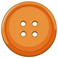 Orange button isolated background