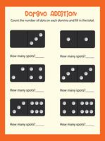 A math domino addition worksheet
