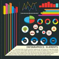 Infographics elements with graphs