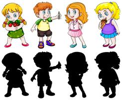 Set of chubby character vector